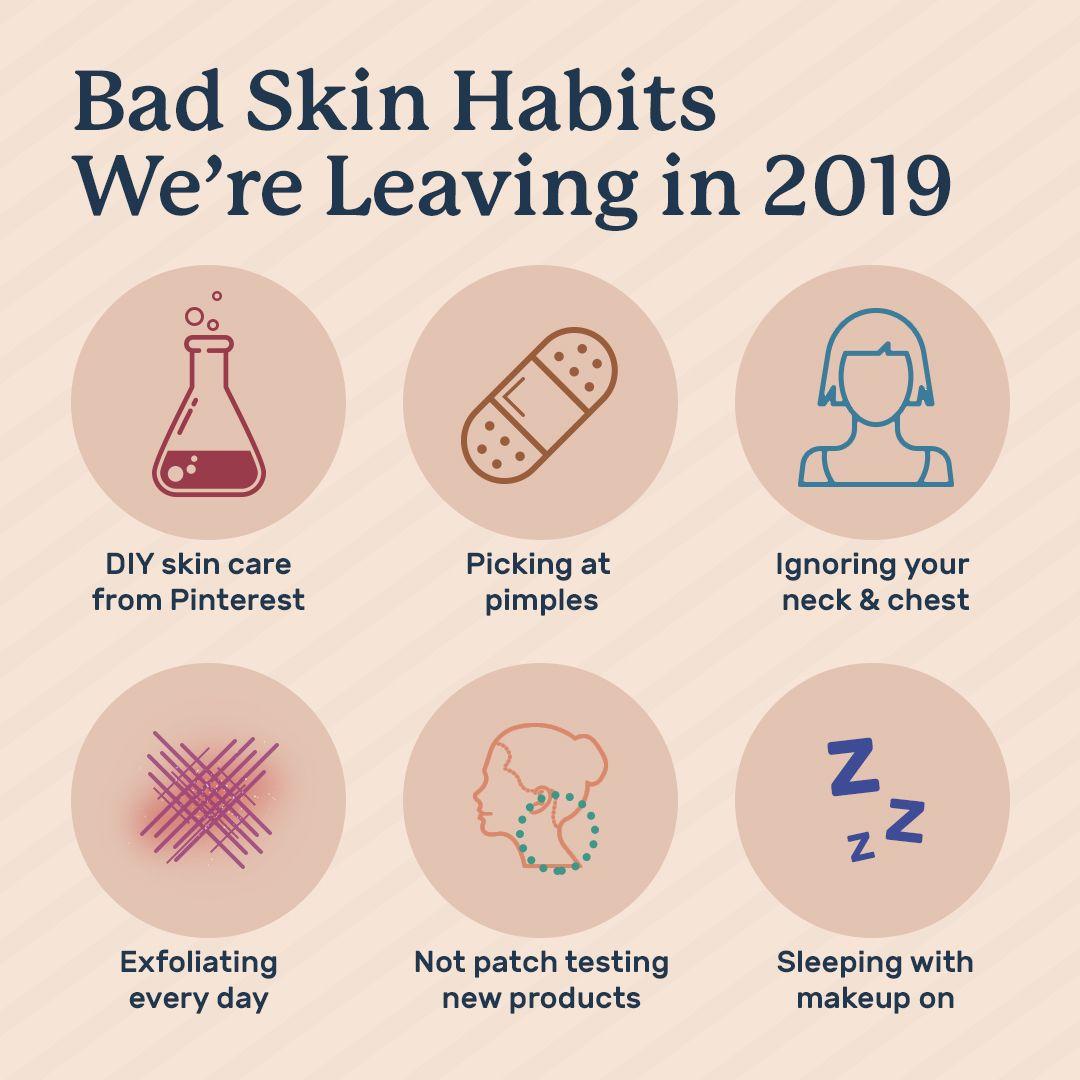 Bad Skin Habits to Leave in 10  Healthy skin care habits