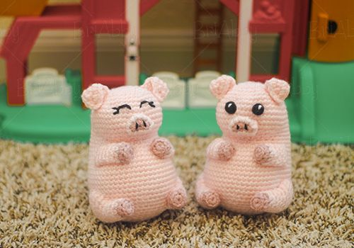 Piglet Amigurumi Free Pattern : Crochet amigurumi pig pudgy pals pattern. an easy quick project with