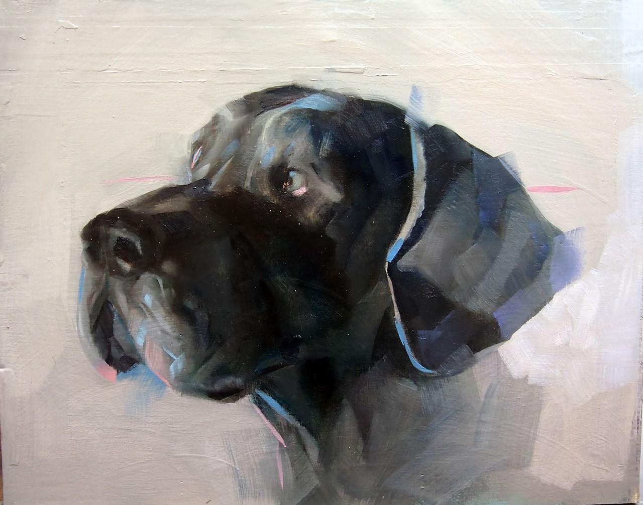 Benjamin Bjorklund Visual Noise Photo Dog Paintings Dog Art