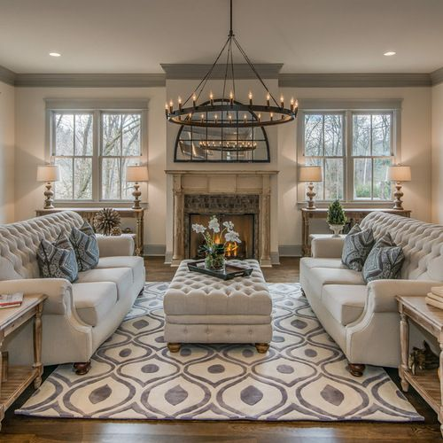 Traditional Living Room Carpet Home Design, Photos & Decor Ideas ...