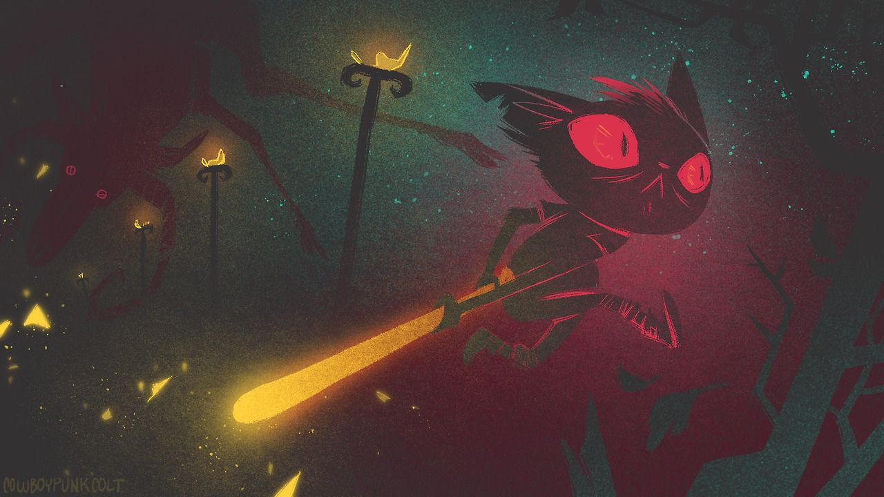 """cowboypunkcolt: """" Some Night in the Woods fanart. Just finished first playthrough the other day, but there were a bunch of bits I missed, so I'll be doing another one sometime soon~ My Site   Twitter..."""