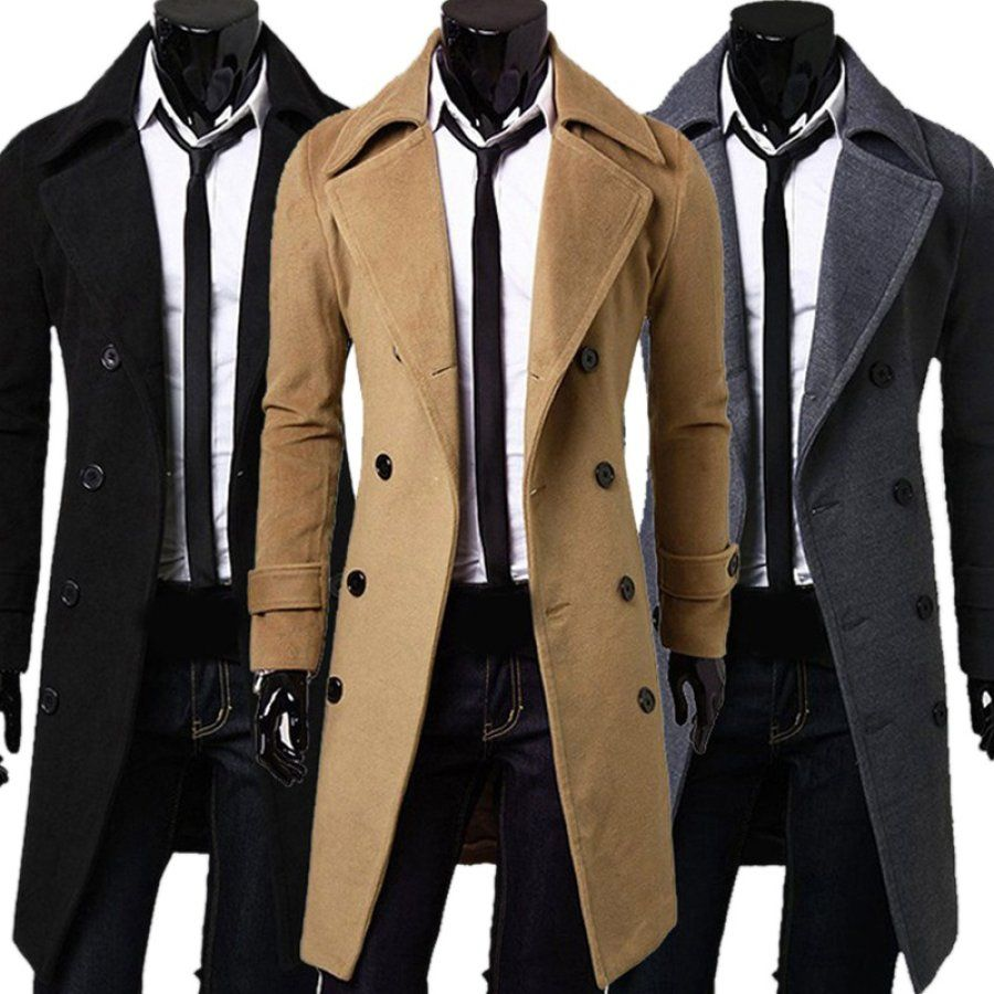Men Top Quality Cotton Overcoat Ootdmw Com In 2021 Trench Coat Men Mens Winter Fashion Double Breasted Overcoat [ 900 x 900 Pixel ]