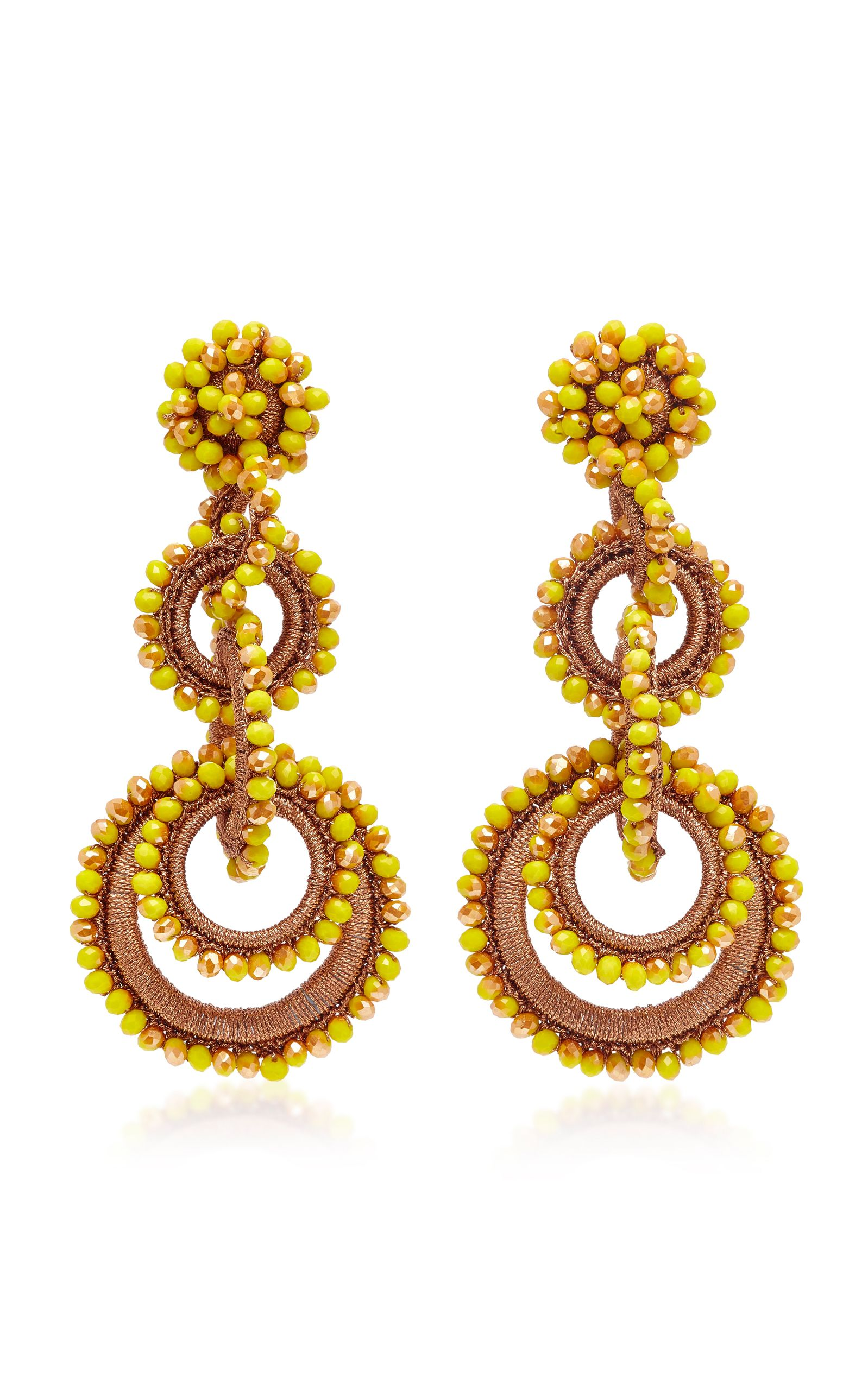 Sundrop Bead And Silk Earrings - Gold Bibi Marini Sale For Cheap Buy Cheap Best Wholesale View Online Cheap Sale Newest View Cheap Online mvkag3Wzs