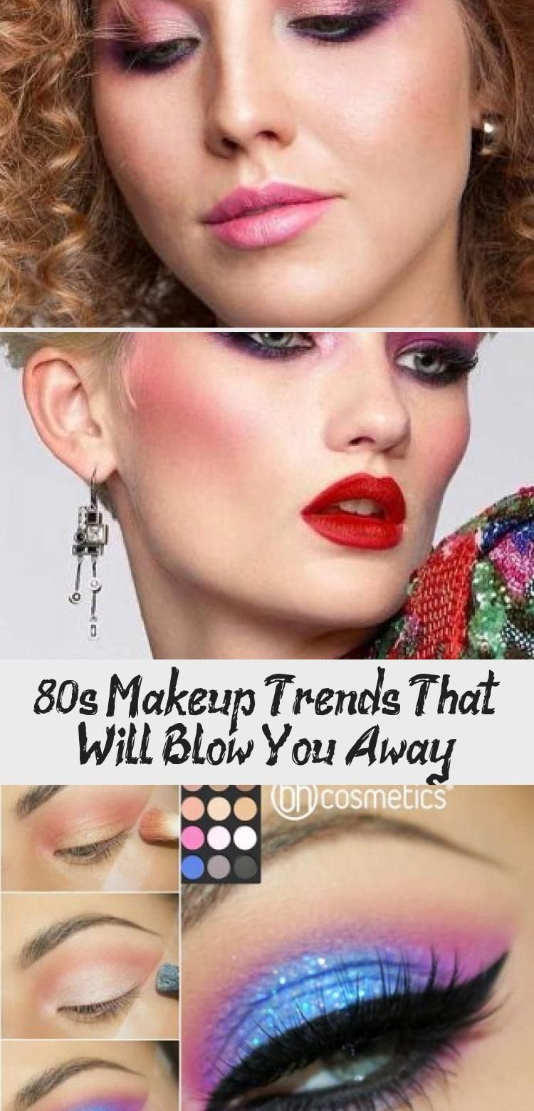 80s Makeup Trends That Will Blow You Away - Best Makeup -  Pink And Green Eyeshadow With Bold Black