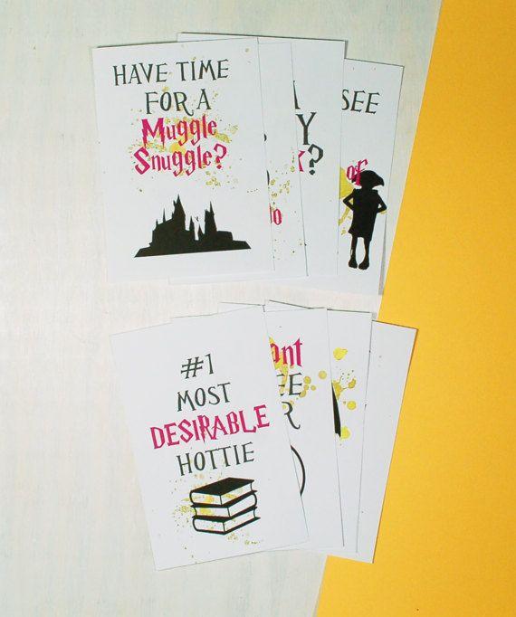 adult harry potter printable cards instant digital downloadsadult lunchbox notes adult funny love cards harry potter love card - Adult Valentine Cards