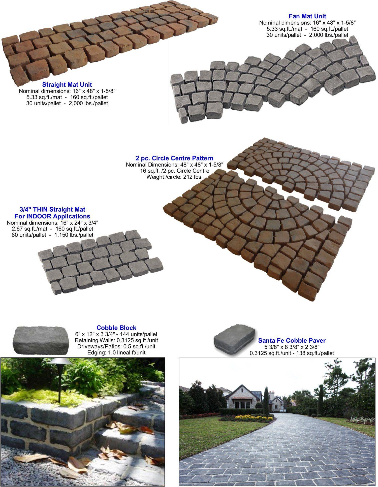 Cobblesystems Riccobene Concrete Masonry Design Cobblestone Pavers Deck Designs Backyard Garden Landscape Design