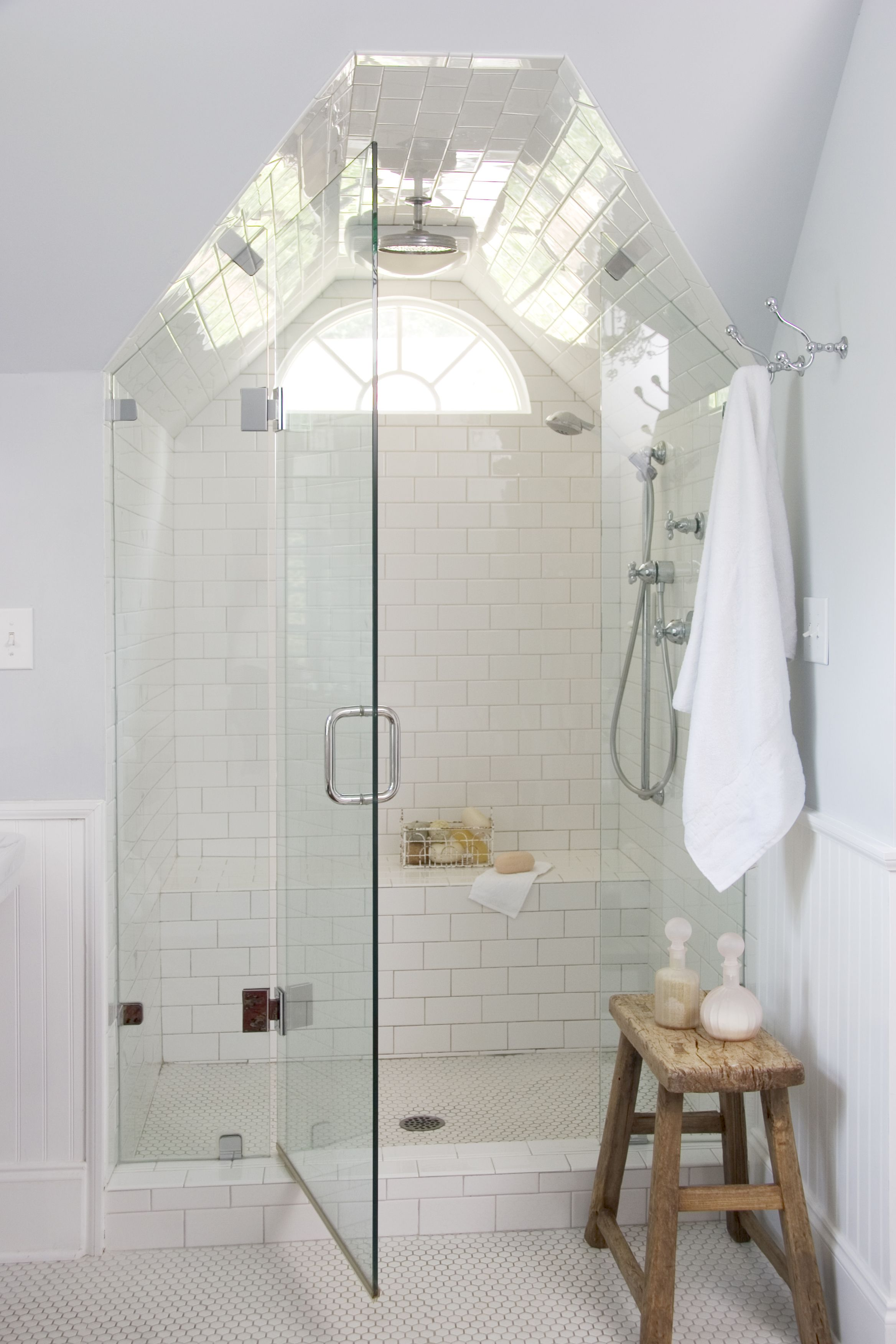 preparing for the holidays are your guest rooms ready attic i love the symmetry of a shower in the eves more