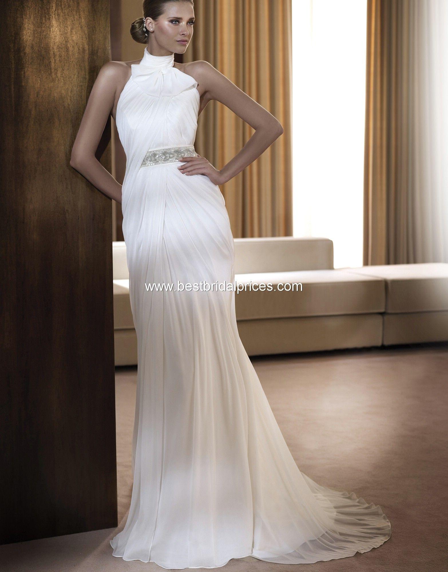 High neck wedding dresses canada pronovias wedding dresses style