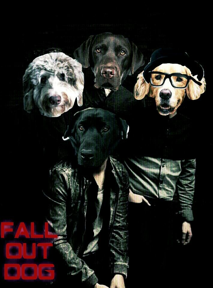 I was bored so I made Fall Out Dog.... (sorry for my terrible photoshop skills)
