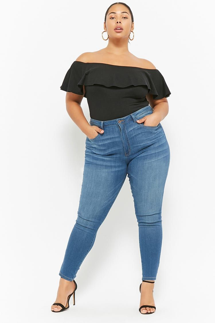 c1665b8ac Product Name Plus Size High-Waisted Skinny Jeans