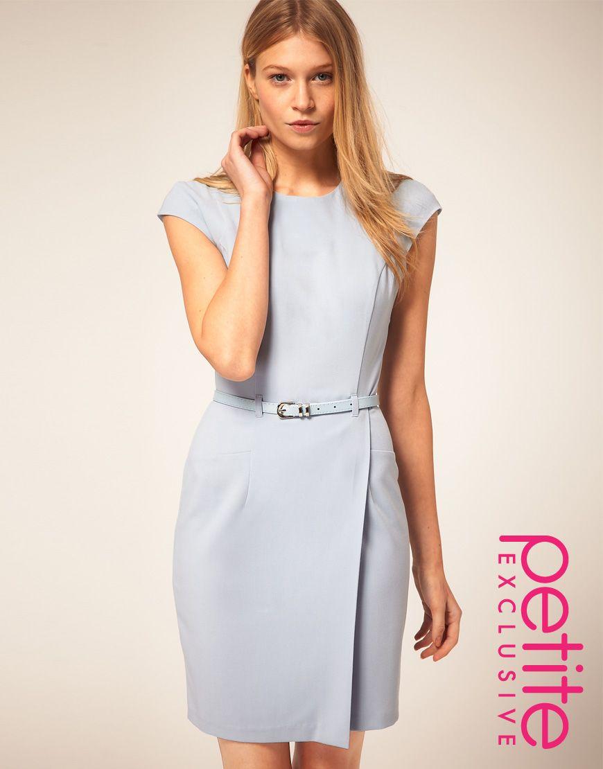 blue wrap dress