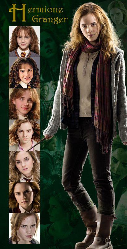 Hermione Granger Years 1 7 Emma Watson Harry Potter Harry Potter Cast Harry Potter Hermione Granger