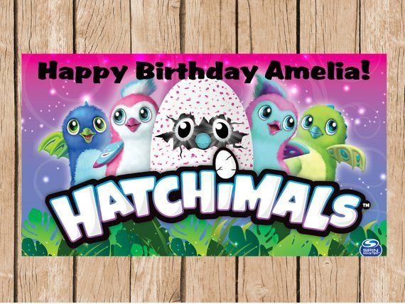 Hatchimals Vinyl Birthday Banner