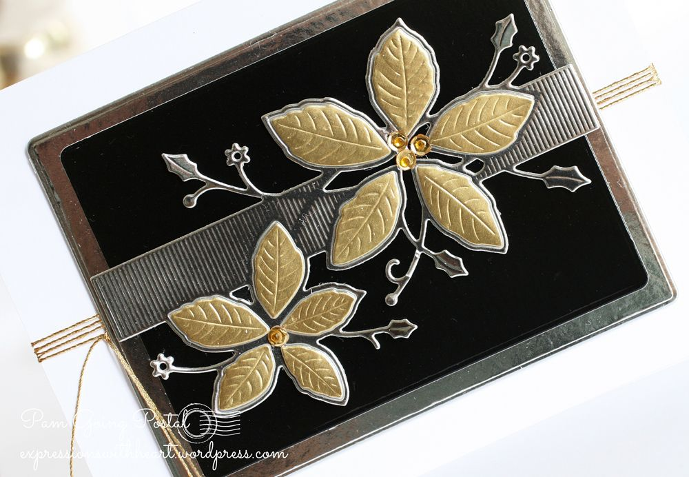 pam-sparks-poinsettia-band-silver-gold-black-close
