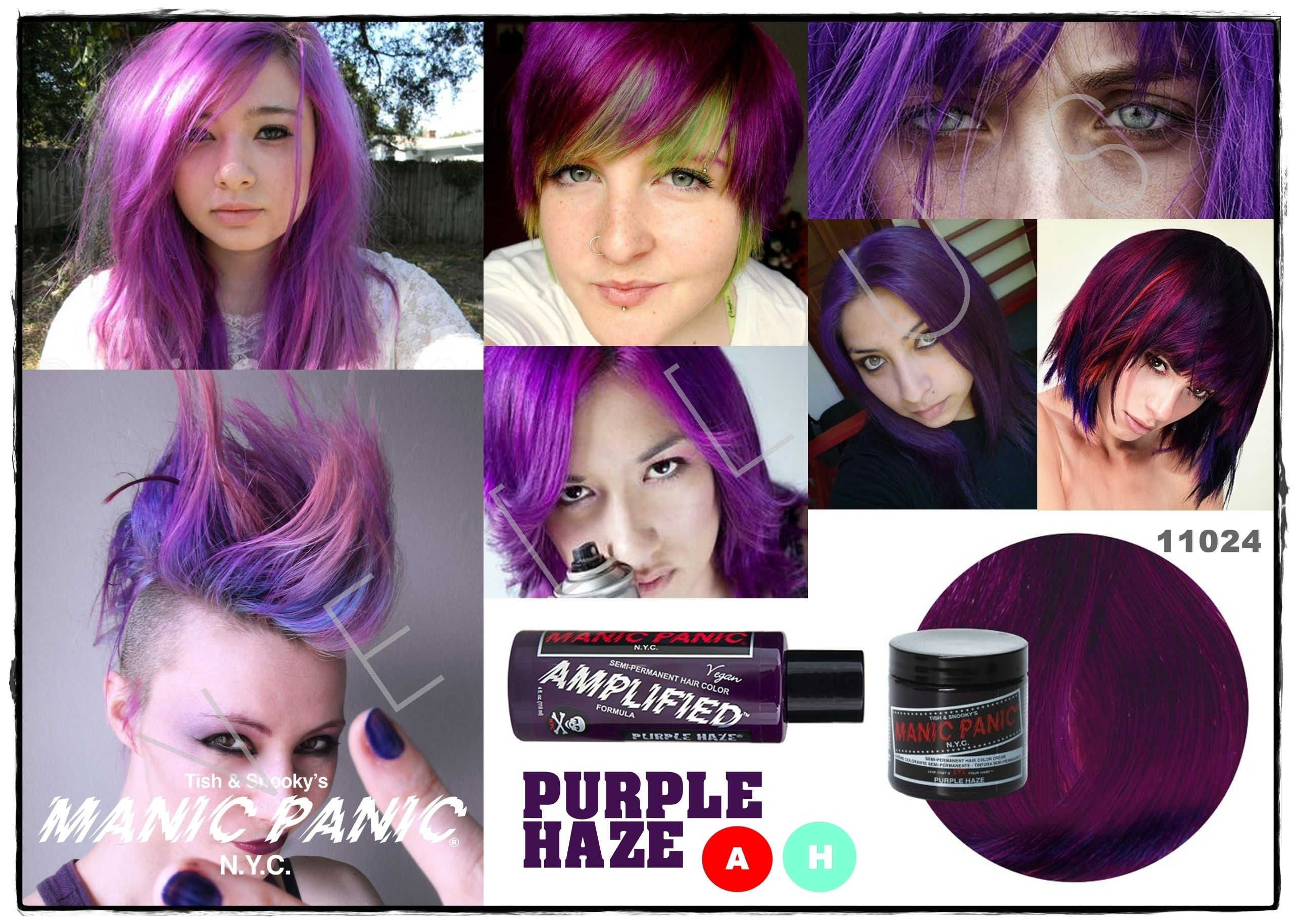 Manic Panic Amplified Purple Haze Vellus Hair Studio 83a Tanjong