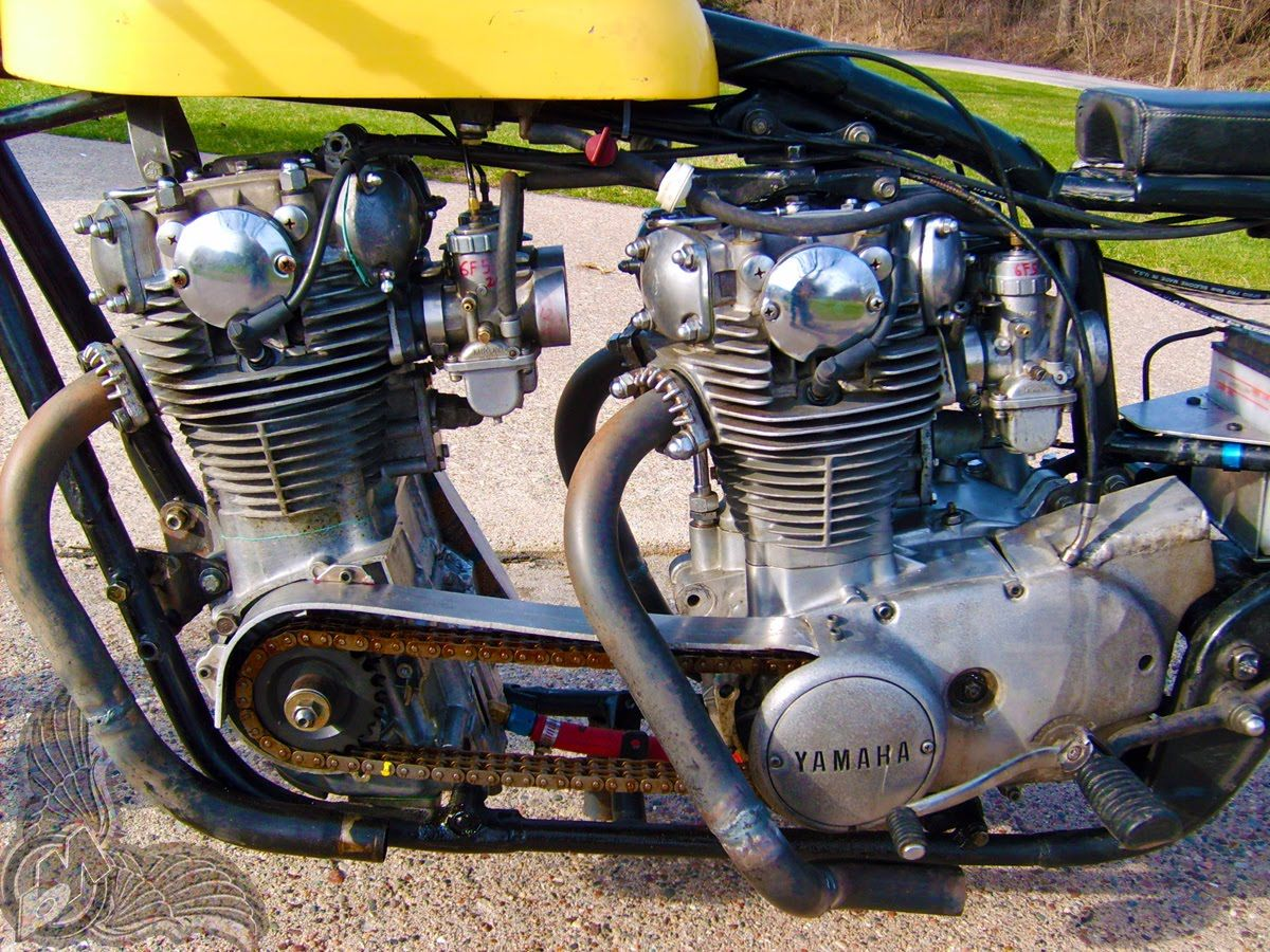 Xs650 Double Motor Drag Bike Check This Out Pinterest 1981 Rephased Wiring Diagram Chain Drive Motorcycle Engine Classic