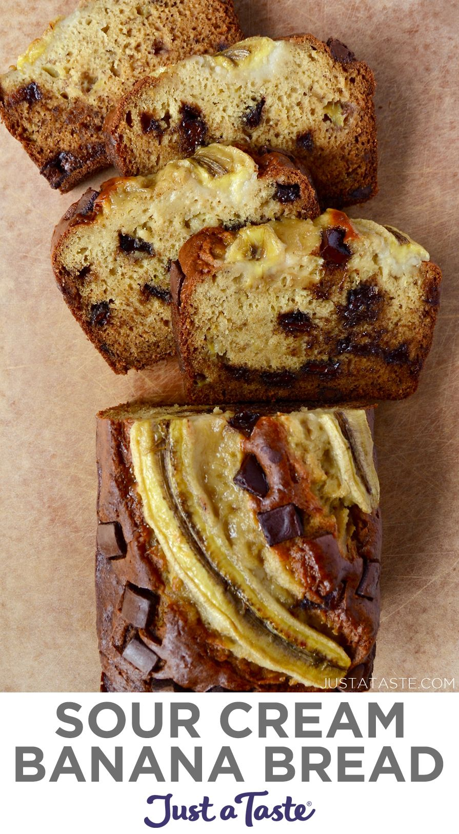 The Best Sour Cream Banana Bread Recipe In 2020 Sour Cream Banana Bread Banana Bread Recipes Easy Banana Bread Recipe
