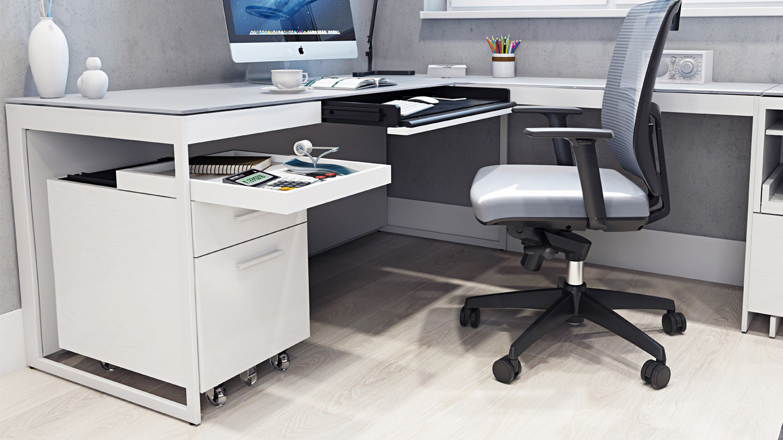 Centro Mobile File Pedestal 6407 Locked Storage File Drawer Pedestal Desk with locking file cabinet
