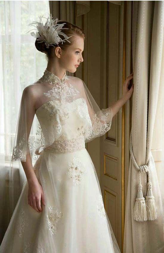 Exquisite Bridal Capelet 2017-2018 | Bride | Pinterest | Capelet ...