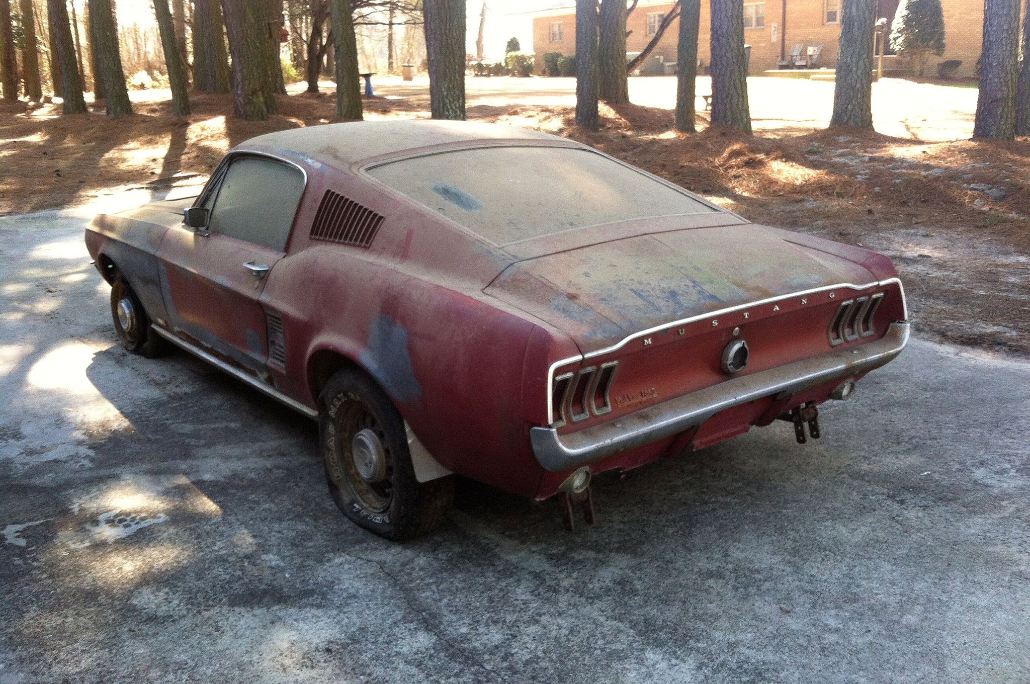 1967 ford mustang 390 gt fastback barn find