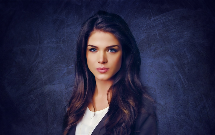 Download Wallpapers Marie Avgeropoulos Canadian Actress Portrait Makeup Brunette Beautiful Woman Besthqwallpapers Com Marie Avgeropoulos Beautiful Girl Face Octavia