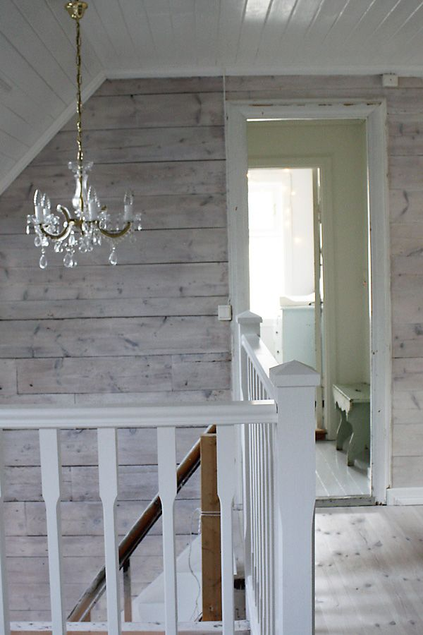 White Wash Walls, Knotty Pine Walls