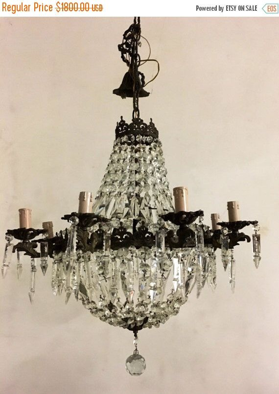 Sale imperial venetian chandelier rare vintage imperial octane sale imperial venetian chandelier rare vintage imperial octane bronze crystal chandelier wiring compatible usa aloadofball Image collections