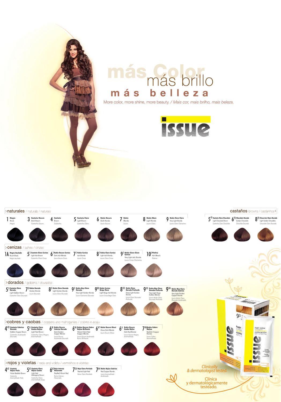 Tonos Carta De Colores De Pelo Issue Catalogo Coloracion Issue Tintes De Cabello Tinte Tintes Colores