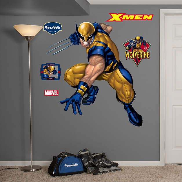 Wolverine Fathead Wall Decal Wolverine Pinterest - Large superhero wall decals