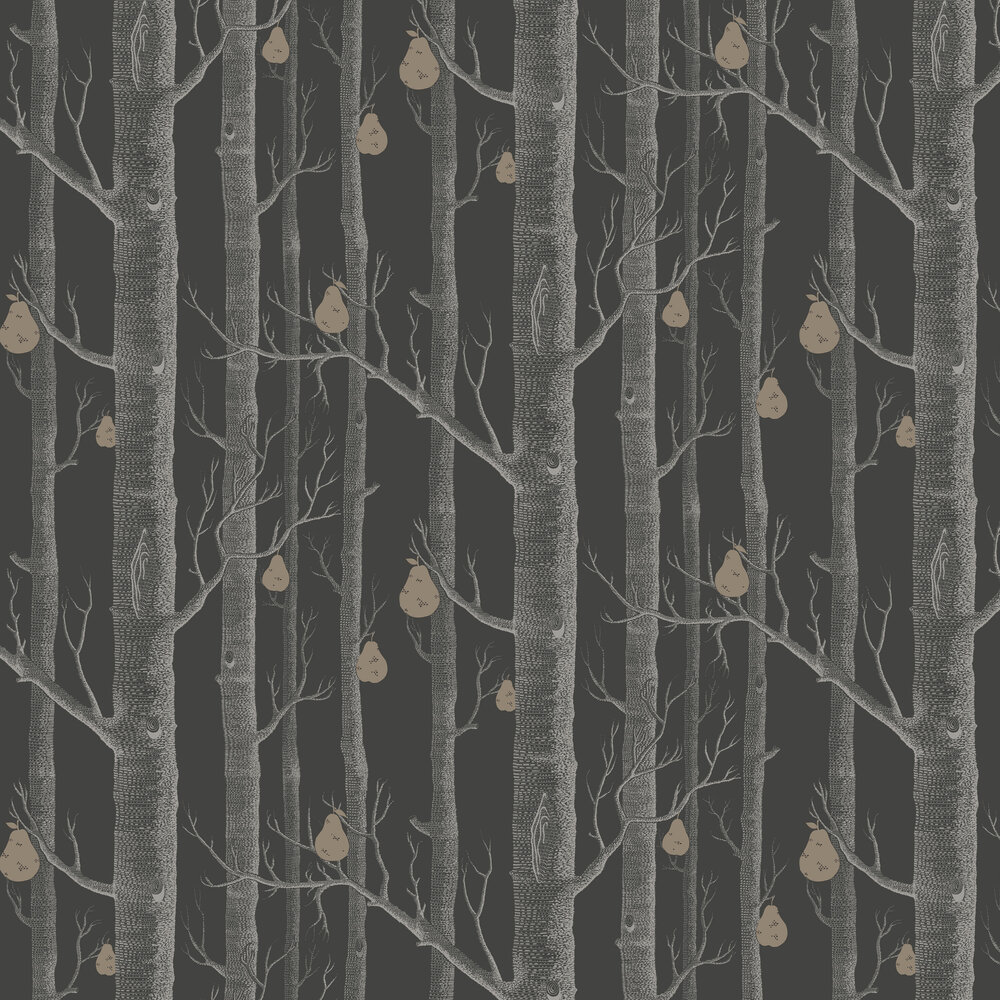 Woods And Pears By Cole Son Black Wallpaper Wallpaper Direct Black Wallpaper Wallpaper Direct Cole And Son