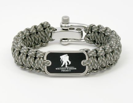 Wounded Warrior Bracelet In Black From Survival Straps