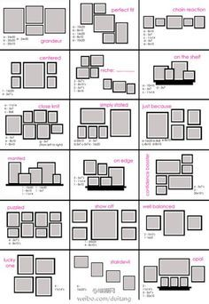 Gallery Wall Template wall displays - google search | dekoideen | pinterest | wall frame