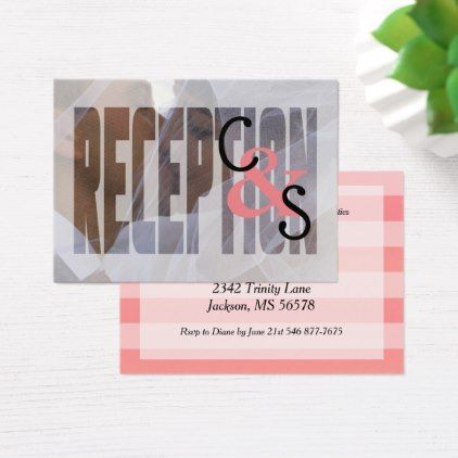 Modern day love coral reception business card business cards modern day love coral reception business card business cards reception and weddings colourmoves
