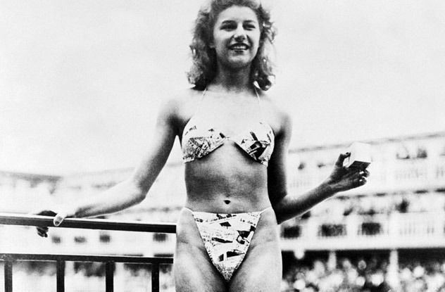Rocked it. invented the bikini english