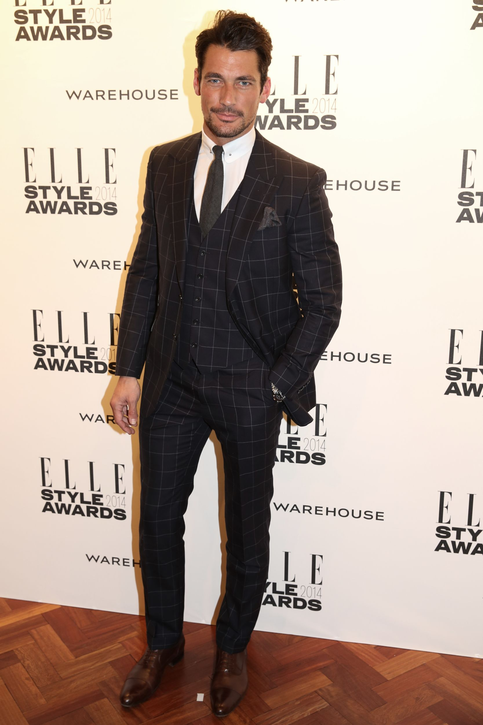 David Gandy wearing Marks & Spencer to the ELLE Style Awards 2014