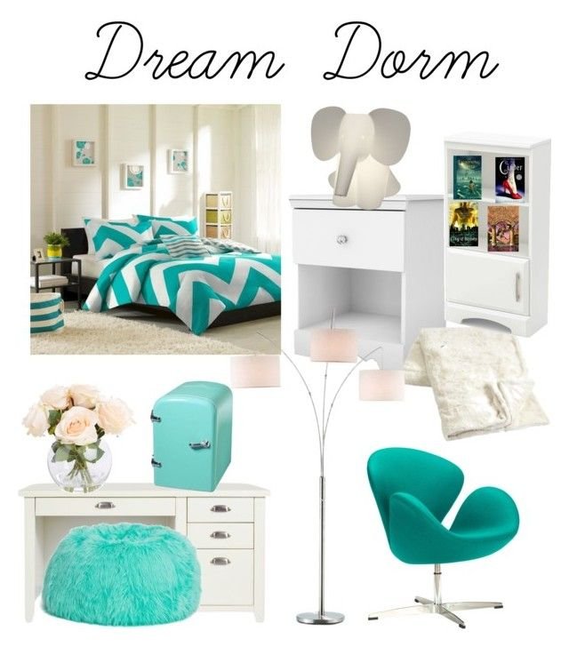 """""""Dream Dorm"""" by silverrise ❤ liked on Polyvore featuring Dot & Bo, South Shore and Adesso"""