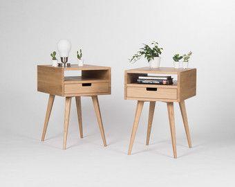 Beistelltisch mit schublade modern  Paar von Mid-Century modern Nachttisch, Nachttisch, Beistelltisch ...