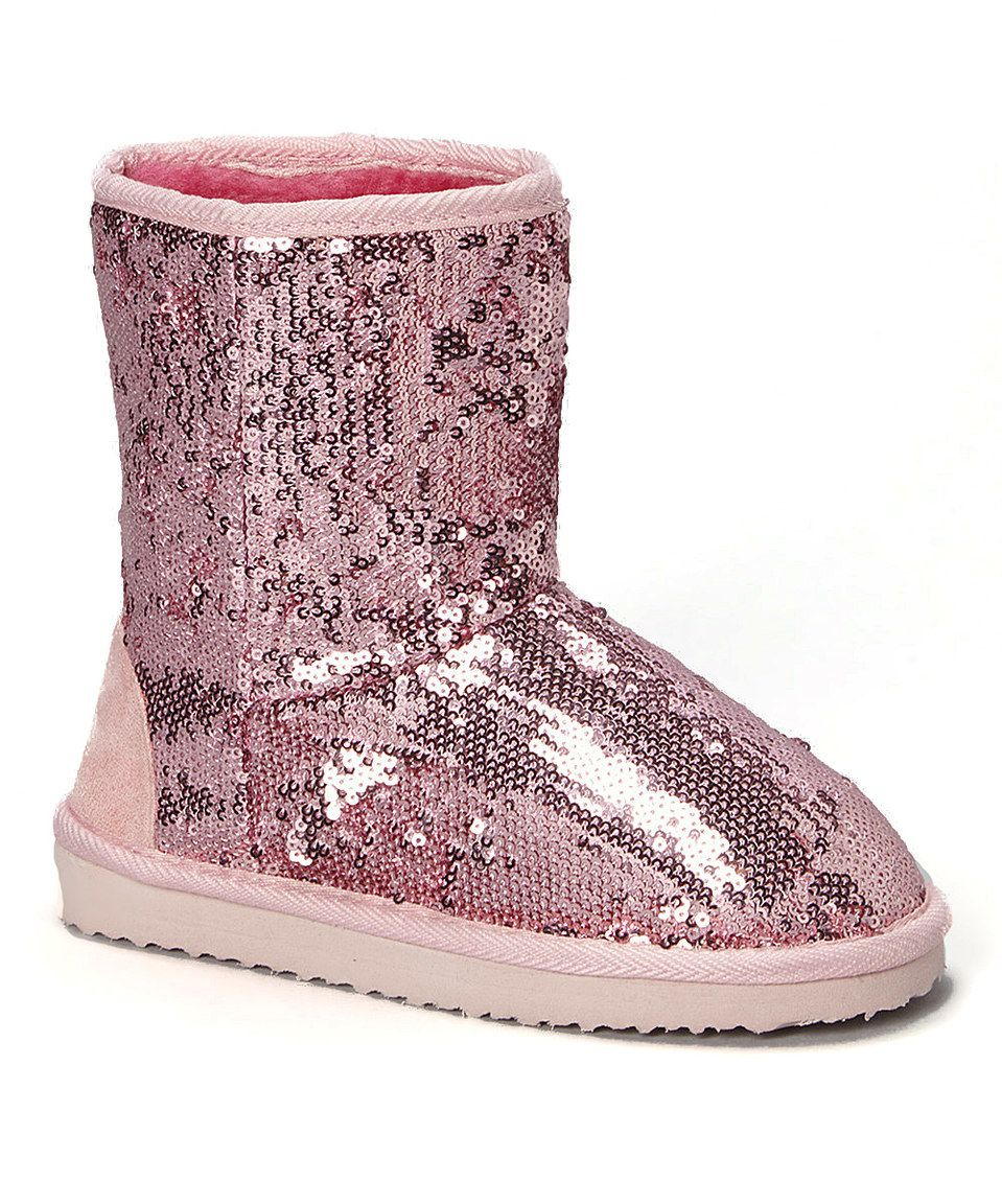 Look what I found on #zulily! Ameta Pink Sequin Bambi Boot by Ameta #zulilyfinds