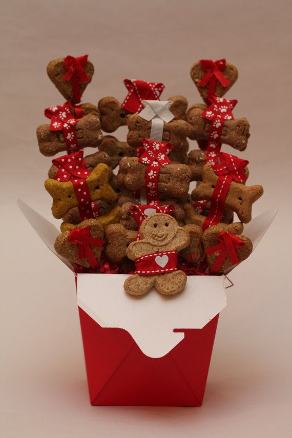 Valentines Day Dog Treat Dog Gift Basket All Natural Dog Treats