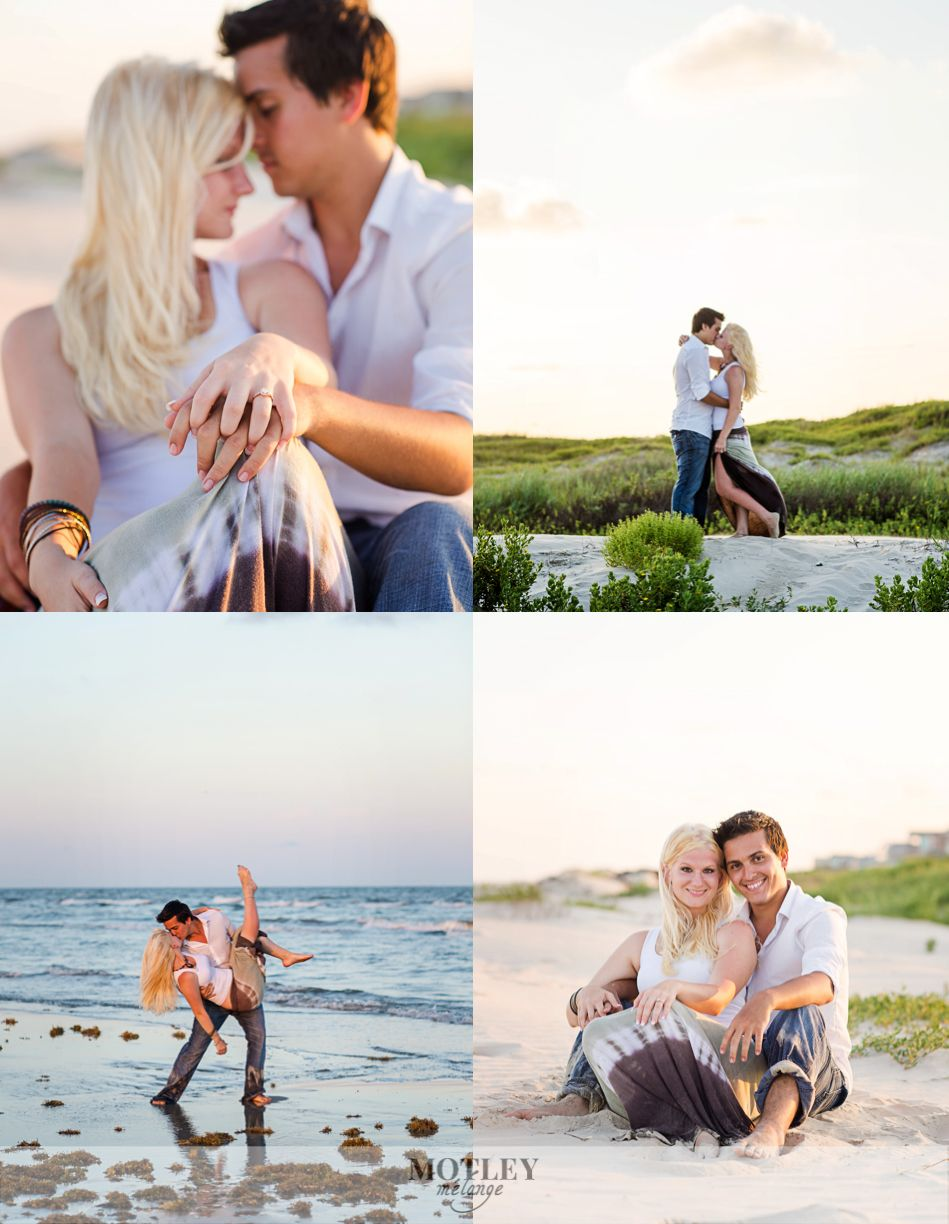 Proposal At Surfside Beach Houston Wedding Photographer Motley Mélange