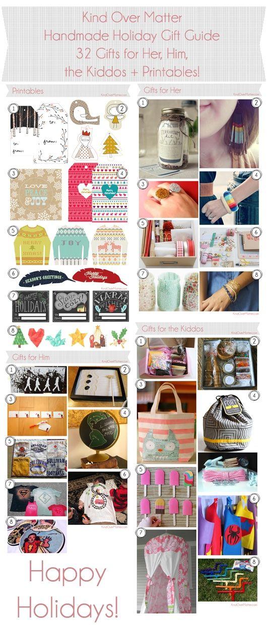 2012 Kind Over Matter DIY Handmade Holiday Gift Guide ...