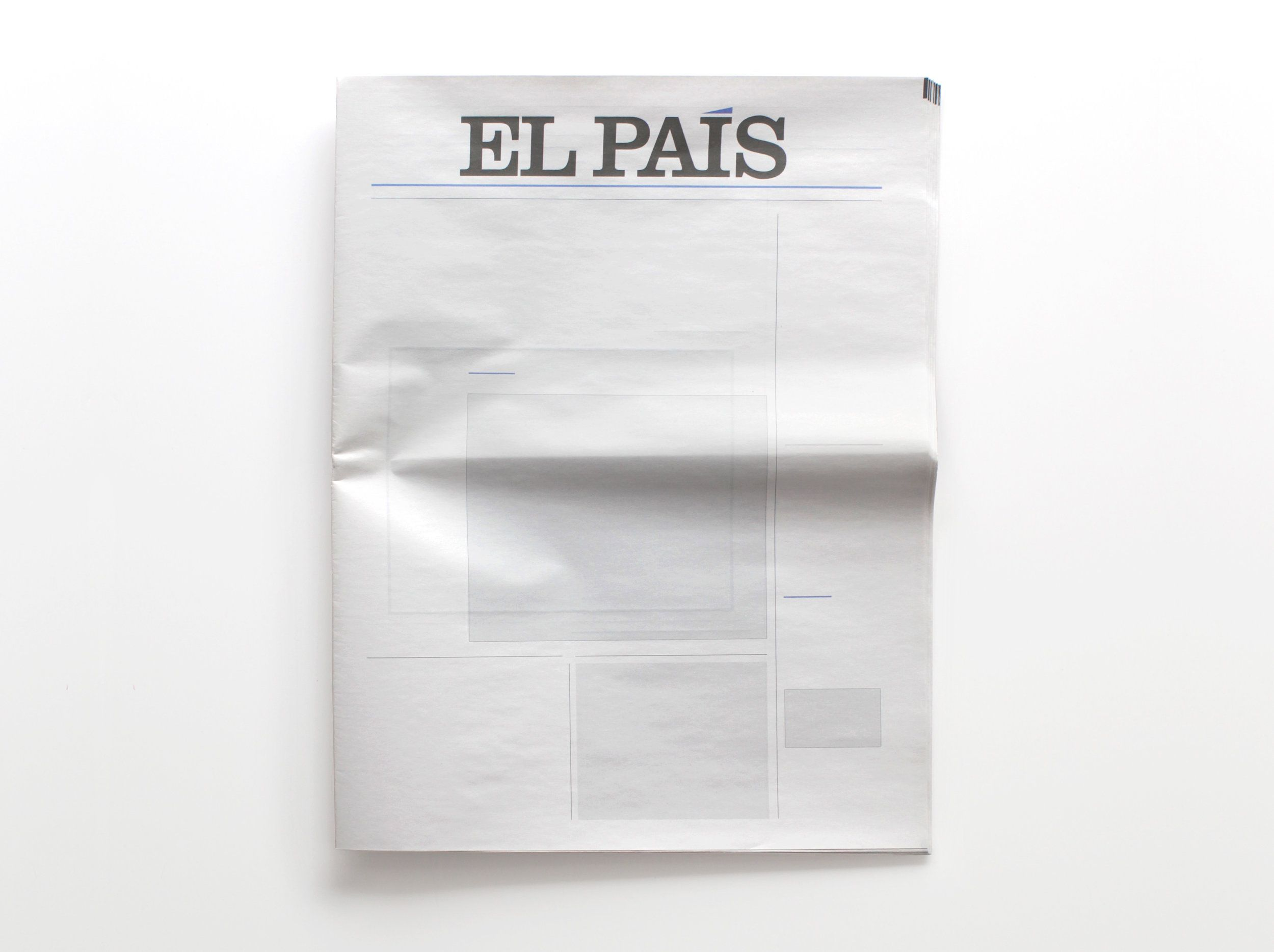 NOTHING IN EL PAÍS: Newspapers from around the world with nothing in them. By Joseph Ernst.