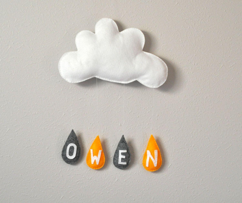 mobile nuage en feutrine astrid de redredcompletelyred. Black Bedroom Furniture Sets. Home Design Ideas
