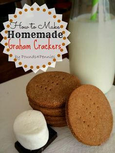 How to Make homemade graham crackers recipe. After school snack idea.