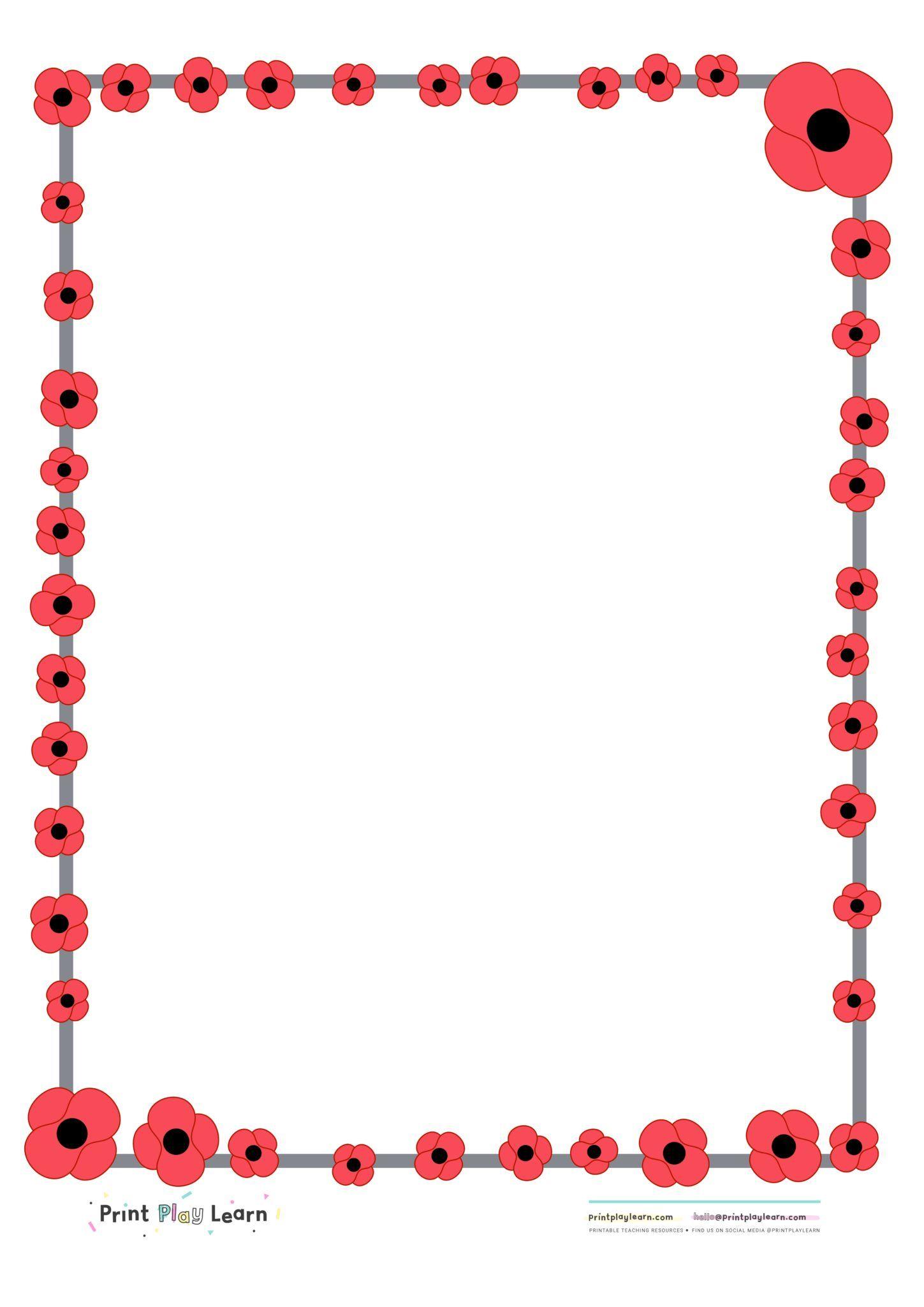 20++ Poppy border clipart free ideas