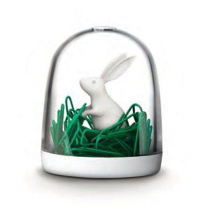 BUNNY IN THE FIELD PAPER CLIPS by Qualy: Amazon.co.uk: Office Products