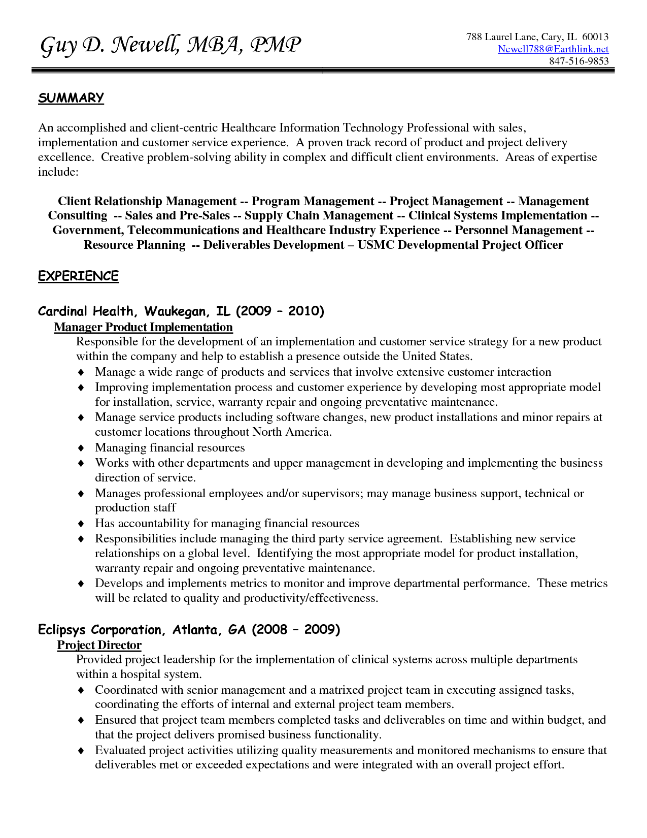 Customer Service Experience Resume http//www