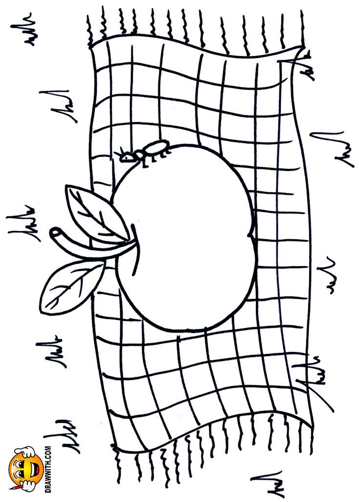 Free Apple Blanket Coloring Pages For Kids Which Includes A Color