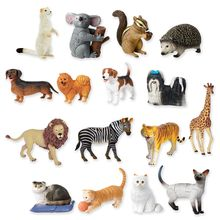 """These puzzles fit together precisely to create realistically detailed animal models.  Each set has 4 creatures ranging from 2.5"""" to 5.75"""" long.  18 to 21 pieces per puzzle. Diagrammed solutions included."""