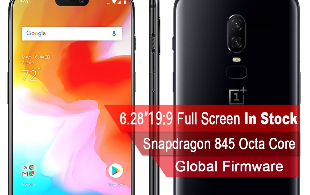 Hot Offer 2018 New Oneplus 6 Waterproof Mobile Phone 6 28'' 6/8GB